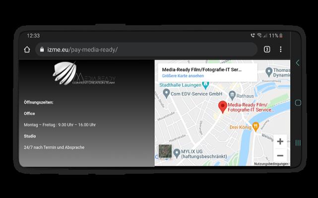 Beispiele für Webvisitenkarten